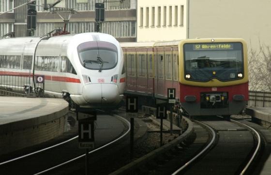 На фотографии - поезда DB Bahn